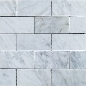carrara subway 150x75mm honed polished