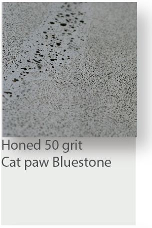 Honed 50 Grit Cat Paw Bluestone Tile