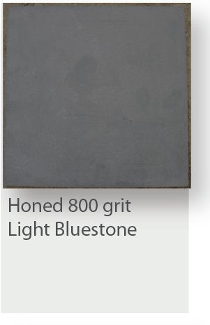 Honed 800 Grit Light Bluestone Tiles