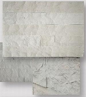limestone white split strips