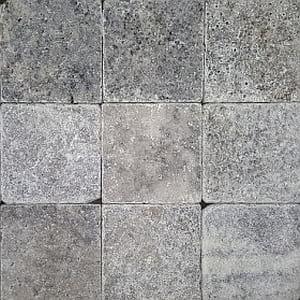 silver cross cut tumbled cobble