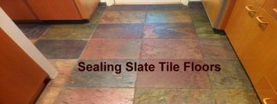Sealing Slate Ffloor Tiles