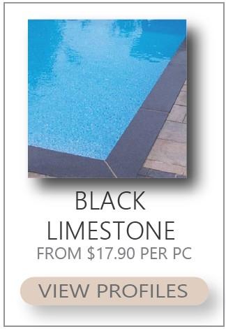 black limestone coping tiles