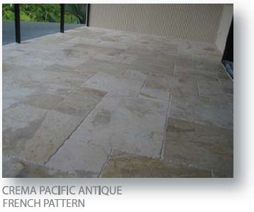 Crema Pacific Antique French Pattern Marble Pavers 2