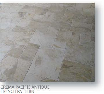 Crema Pacific Antique French Pattern Marble Pavers
