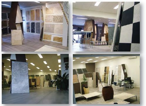 stone selection showroom