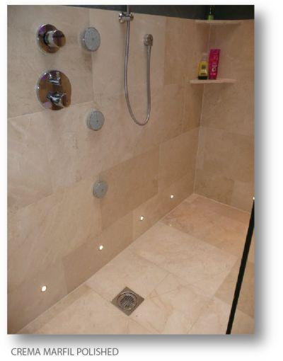 Crema Marfil Polished Marble Tile 2