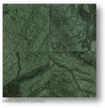 Dark Green Polished Marble Tiles