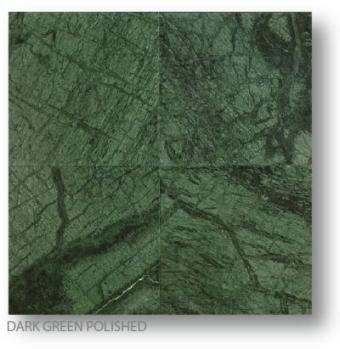 Dark Green Polished Marble Tiles