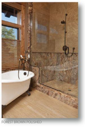 brwon marble tiles