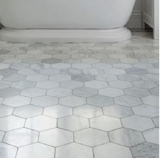 Hexagon Marble Bathroom Tiles