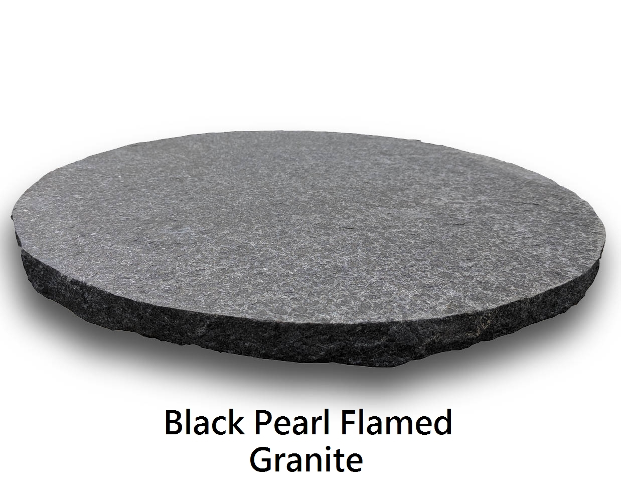 Granite Stepping Stones : Black pearl flamed granite stepping stones
