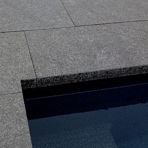 black pearl flamed granite coping