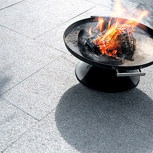 opal white flamed granite coping