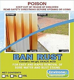 ban rust stone cleaner