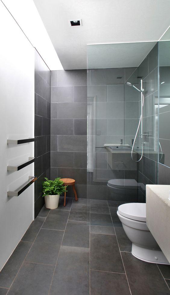 Dark Honed Bluestone Tiles Bathroom Walls Floors