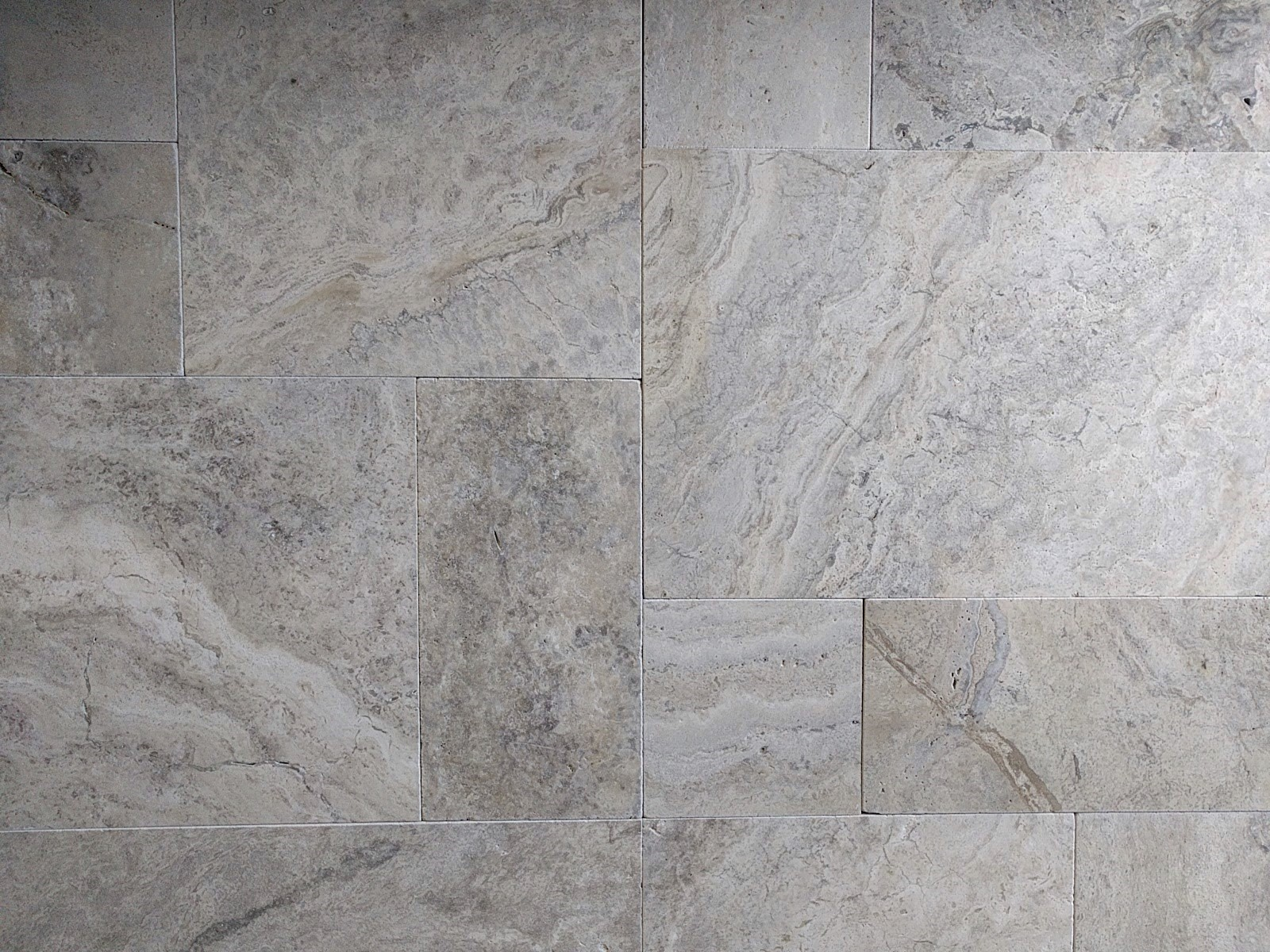 Limestone Or Travertine Tile : Silver oyster french pattern unfilled tumbled travertine