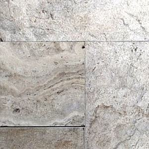 silver oyster travertine unfilled honed