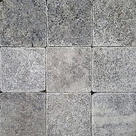 Silver travertine cobblestone