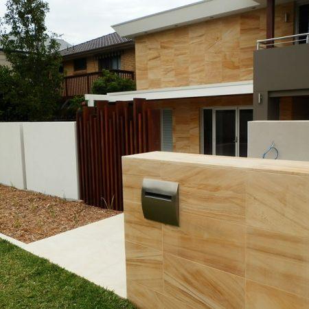 teakwood honed sandstone pool tiles