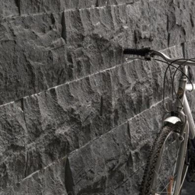 diamond black stone wall cladding