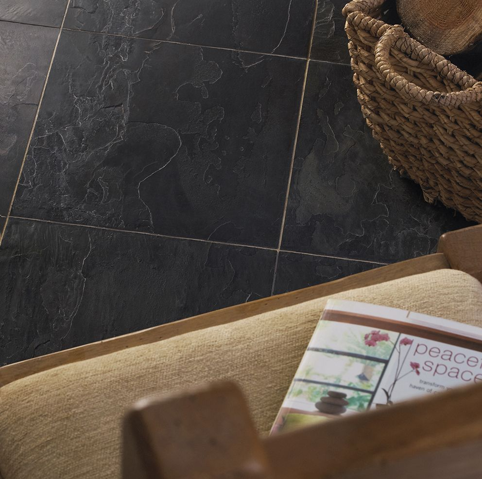 Indian black slate tiles for sale supplied by rms traders indian black slate floor tiles dailygadgetfo Choice Image