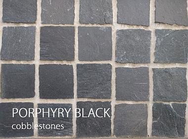 porphyry black cobblestones
