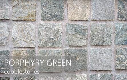 porphyry green cobblestones
