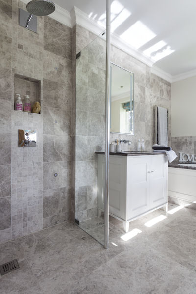 Attrayant ... Tundra Grey Honed Marble Tiles Bathroom Floors Walls  ...