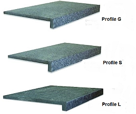 Black Pearl Flamed Granite Coping Tiles