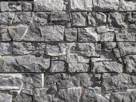 castle black dry panel stone wall cladding