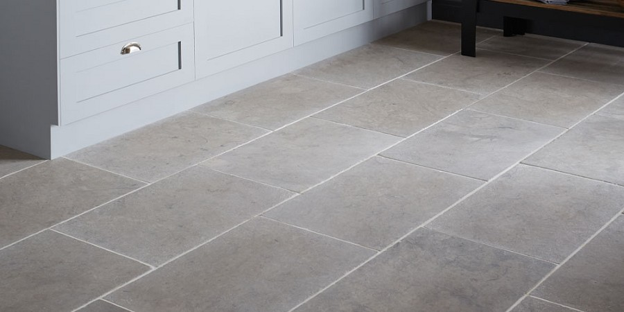 Sinai Pearl Brushed Tumbled Limestone Tiles Pavers Internal