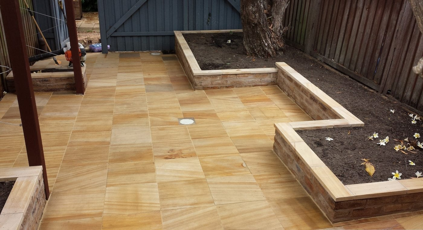 Teakwood Honed Sandstone Tiles