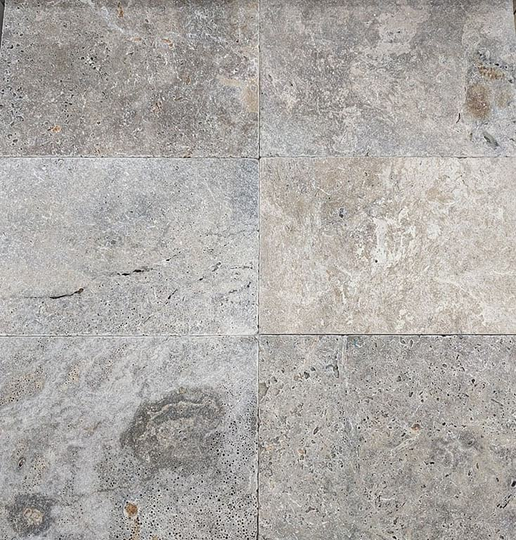 Argento Travertine Unfilled And Tumbled