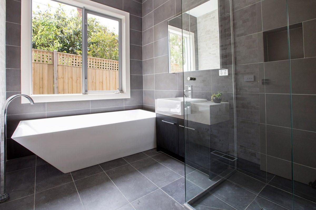 Honed Dark Bluestone 800 Grit, Bluestone Bathroom Tiles