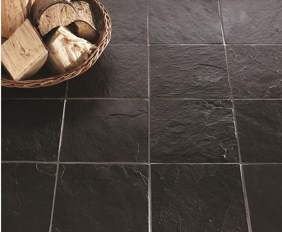 Indian Black Slate Tiles, Black Stone Tile Flooring