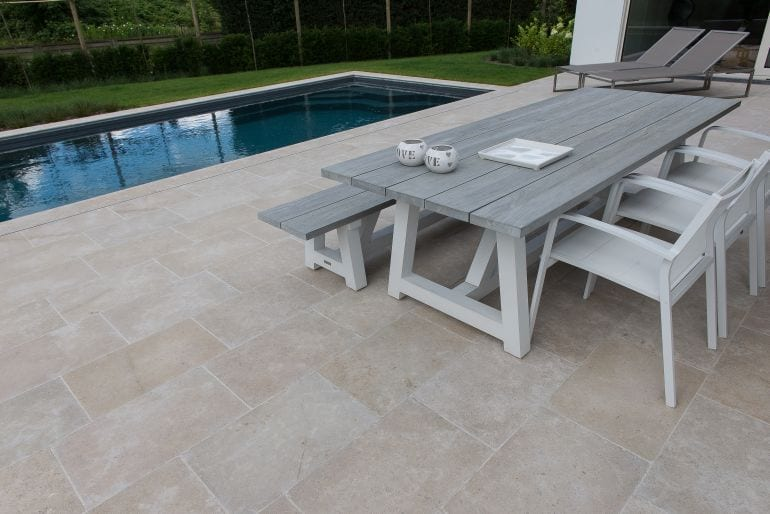 Sinai Pearl Brushed & Tumbled Limestone Coping Tiles