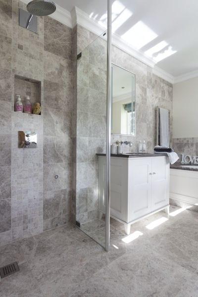Tundra Grey Honed Marble Tiles
