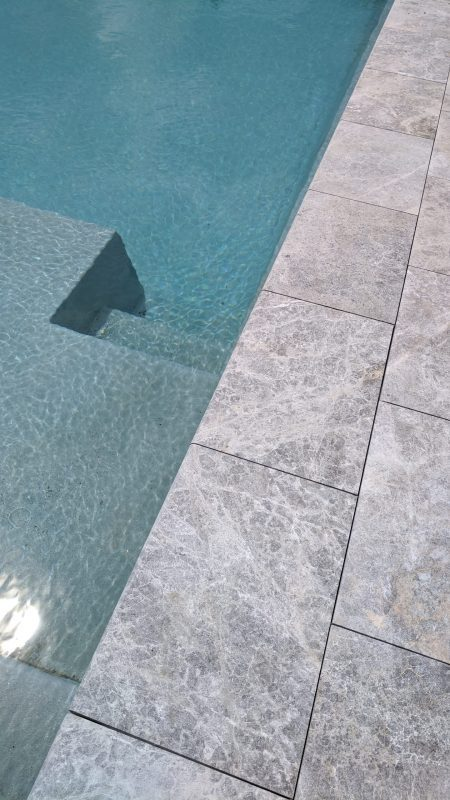 Tundra Grey Sandblasted Pool Coping