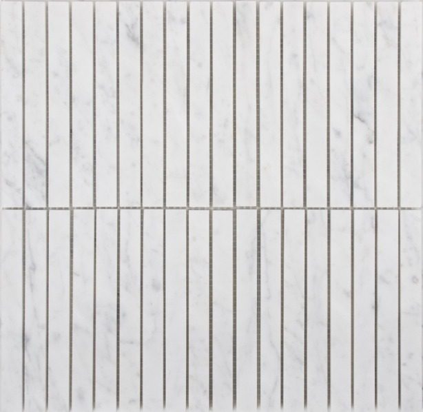 Bianco Carrara Kitkat Marble Tiles
