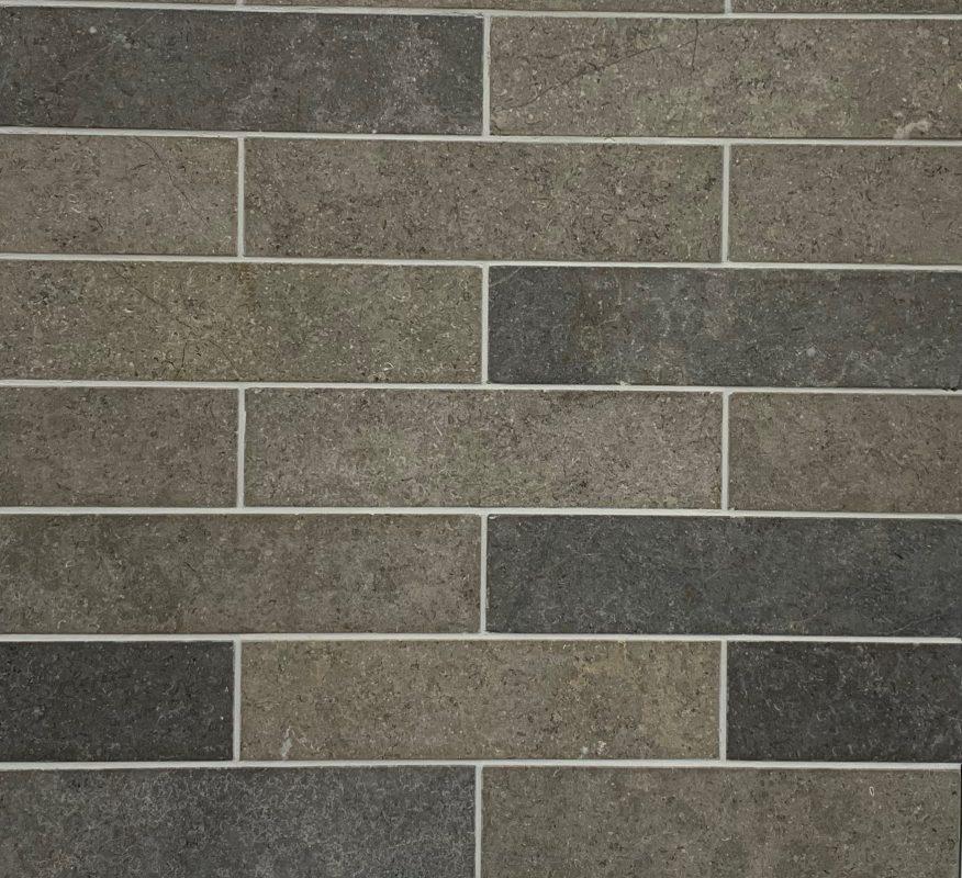 London Grey Acid Washed Limestone Subway Tiles