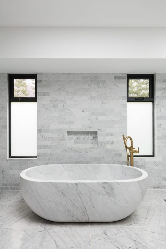 Bianco Carrara Honed Subway Marble Tiles