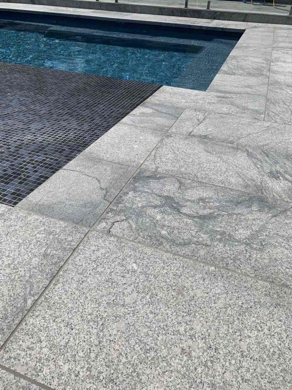 Fantasy Grey Sandblasted Granite Coping
