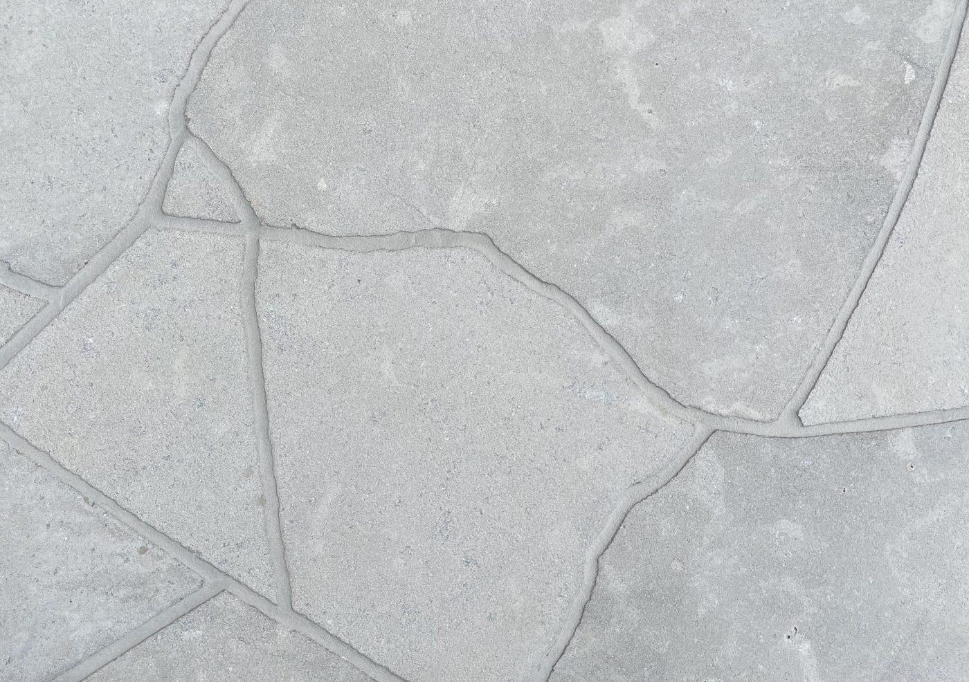 London Grey Limestone Sandblasted Crazy Paving