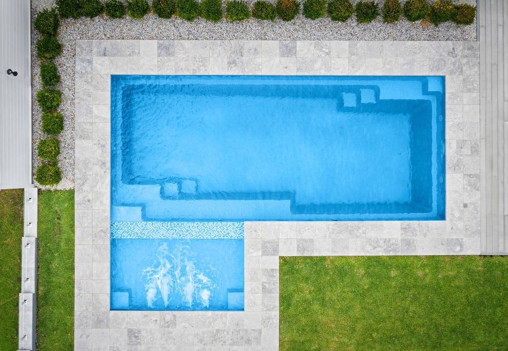 Royal Grey Marble Pool Coping